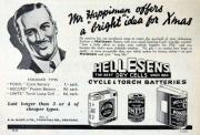 December 1931. Hellesens.