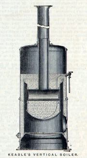 1881. Keable's vertical boiler.