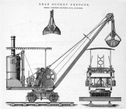 1883. Grab bucket dredger.