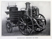 1906. Horse-Drawn Fire Engine .
