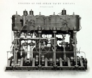 1904. Engines of the steam yacht Nirvana.