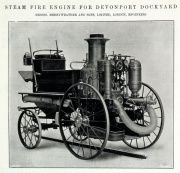 1905. Steam fire engine for Devonport Dockyard.