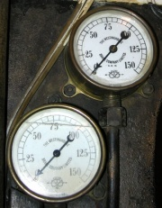 Salter pressure gauges for Westinghouse Brake on c.1889  electric locomotive at
