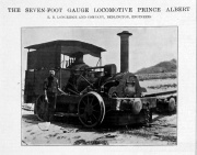 1910. Prince Albert 7-ft Gauge Locomotive.